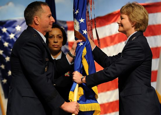 Goldfein passes AFRC guidon to Miller